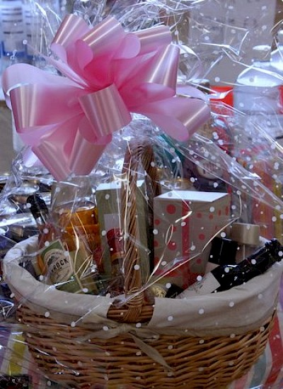 Hamper Raffle Prize Donation by One of Our Carers Who Works for Avon